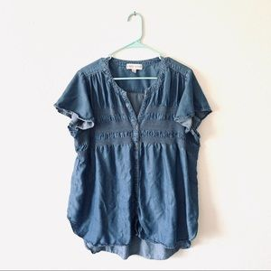 3 for $30 Knox Rose Chambray Top